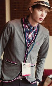 Cardigan avec liseret contrastant Fred Perry