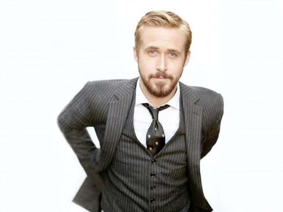 ryan gosling Smoking 3 pièces ultra chic et cravate porté négligemment