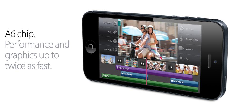 le nouveau iphone 5 avec son processeur A6