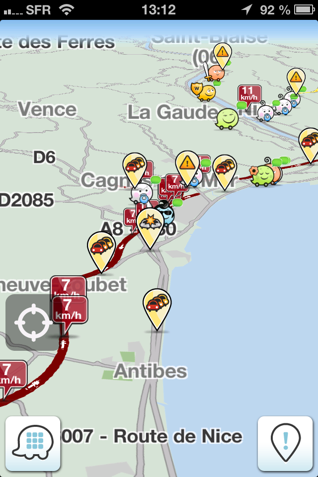 waze GPS gratuit iphone android carte