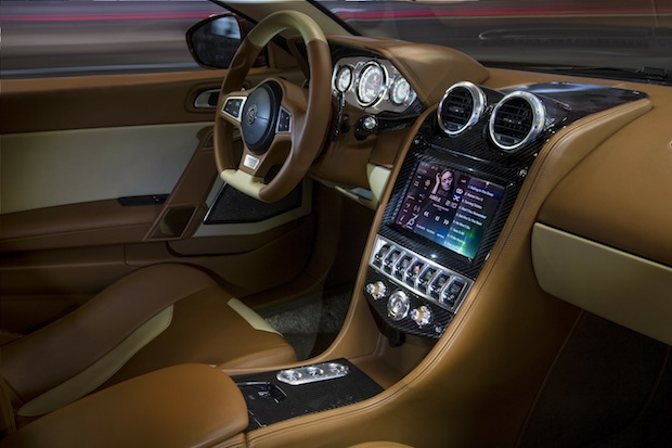Automobile de luxe à la française Exagon l interieur