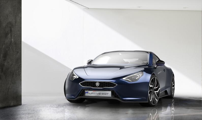 Automobile de luxe à la française Exagon face avant