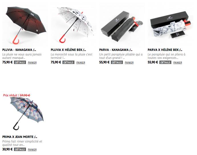 gamme vantis - test parapluie