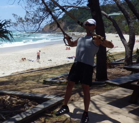 TRX comment faire du sport en vacance