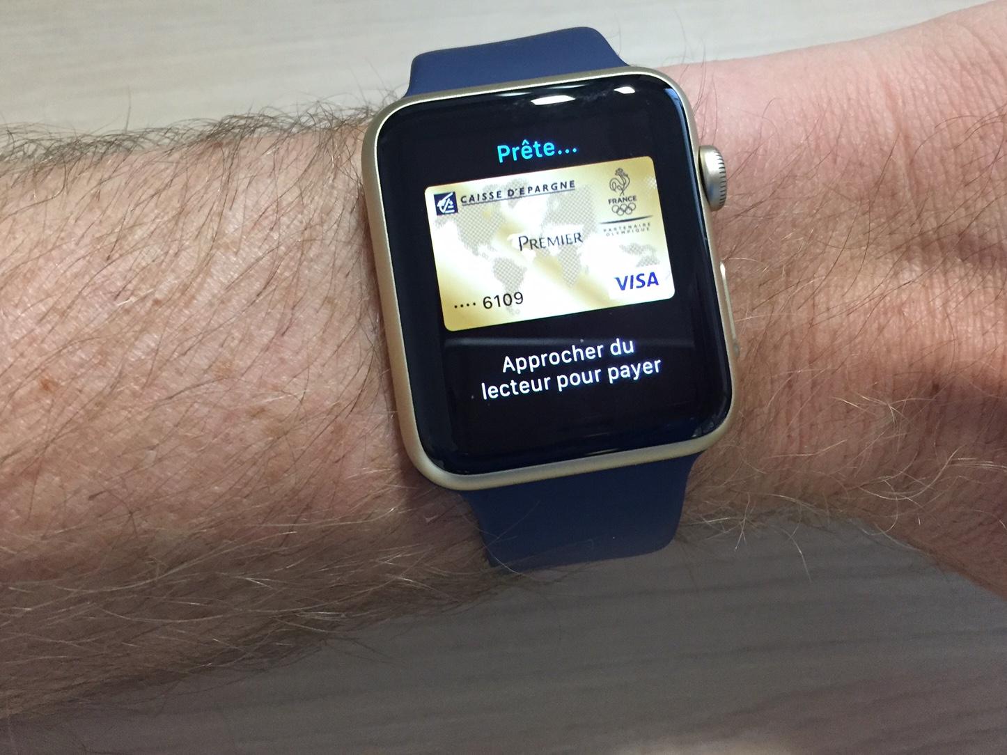 apple pay sur apple watch