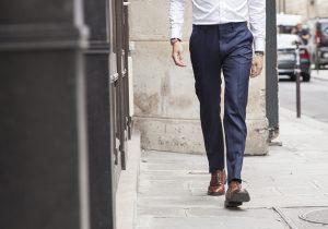 pantalon bleu bonnegueule