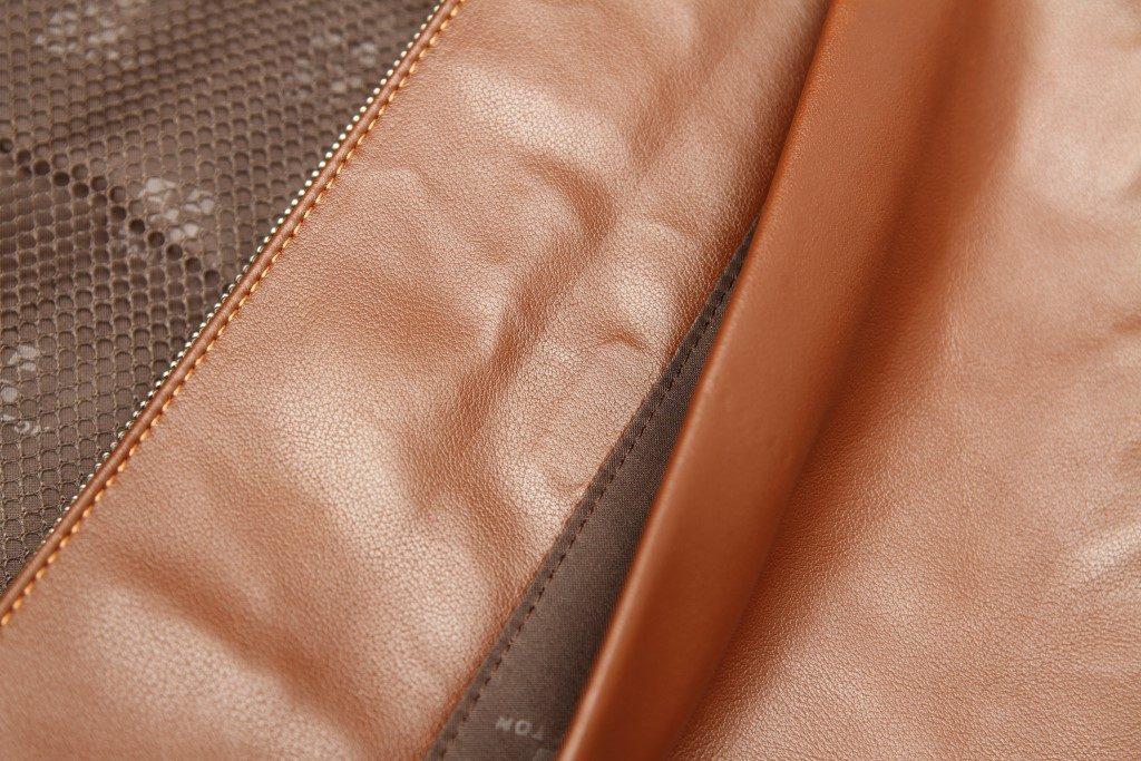 """sac boudoulière """"haut ton"""" cuir"""
