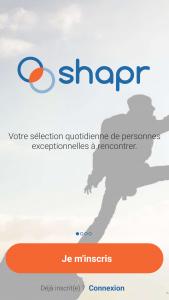 shapr application de rencontre connexion