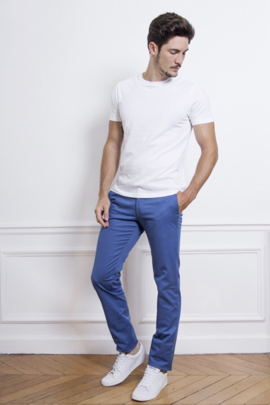 Chino bleu le pantalon