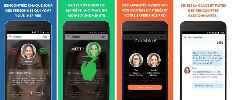 shapr application de rencontre professionel