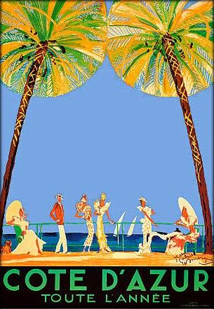 Affiche Côte d'Azur